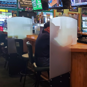 Restaurant Bar Barrier for Covid 19 Regulation